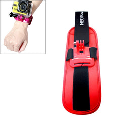 NEOpine Sports Diving Wrist Strap Mount Stabilizer 90 Degree Rotation for GoPro Hero 4 / 3+ / 3 / 2 / 1(Red)