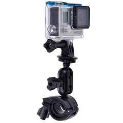 360 Degrees Rotation Bicycle Motorcycle Holder Handlebar Mount with Screw & Tripod Adapter for GoPro HERO4 /3+ /3 /2 /1