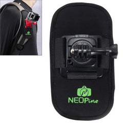NEOPine Fashionable 360 Degree Rotation Diving Material Camera Belt / Shoulder Harness for GoPro HERO4 /3+ /3 /2 /1Xiaomi YiSJCAM SJ6000 / SJ5000 / SJ5000 WIFI / SJ4000 Sport Camera(Black)
