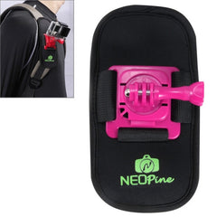 NEOPine Fashionable 360 Degree Rotation Diving Material Camera Belt / Shoulder Harness for GoPro HERO4 /3+ /3 /2 /1Xiaomi YiSJCAM SJ6000 / SJ5000 / SJ5000 WIFI / SJ4000 Sport Camera(Magenta)