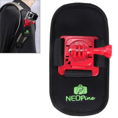 NEOPine Fashionable 360 Degree Rotation Diving Material Camera Belt / Shoulder Harness for GoPro HERO4 /3+ /3 /2 /1Xiaomi YiSJCAM SJ6000 / SJ5000 / SJ5000 WIFI / SJ4000 Sport Camera(Red)