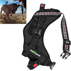 NEOpine Dog Fetch Hound Harness Adjustable Chest Strap Belt Mount for GoPro HERO 4 / 3+ / 3 / 2 / 1(Black)