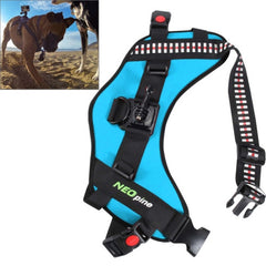 NEOpine Dog Fetch Hound Harness Adjustable Chest Strap Belt Mount for GoPro HERO 4 / 3+ / 3 / 2 / 1(Blue)