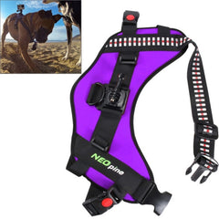 NEOpine Dog Fetch Hound Harness Adjustable Chest Strap Belt Mount for GoPro HERO 4 / 3+ / 3 / 2 / 1(Purple)