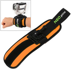 NEOpine Sports Diving Wrist Strap Mount Stabilizer 360 Degree Rotation for GoPro HERO4 /3+ /3 /2 /1(Orange)