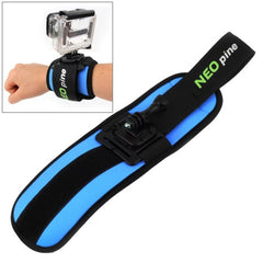 NEOpine Sports Diving Wrist Strap Mount Stabilizer 360 Degree Rotation for GoPro HERO4 /3+ /3 /2 /1(Blue)