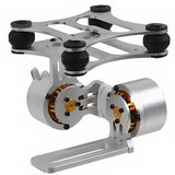 DIY CNC Gopro Hero3 Metal Camera Gimbal Mount for DJI Phantom X525 / F450 / F550(Silver)
