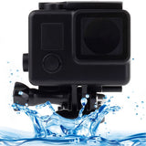 Black Edition Waterproof Housing Protective Case with Buckle Basic Mount for GoPro HERO4 /3+  Waterproof Depth: 10m(Black)