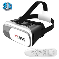 VR BOX 2.0 Universal Virtual Reality 3D Video Glasses with Bluetooth Remote Controller