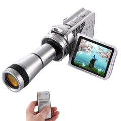 Handheld DV Camera Telescope Camera 8x Optical Zoom HD 720P Camcorder up to 30fps Max 16.0 Mega Pixels Still Pictures with Music Player / Voice Recorder / Wed Cam 8X Digital Zoom + 9X Binocular Lens