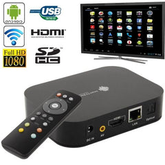3D Full HD 1080P Quad Core Android 4.2 TV Box Media Player HDMI 1.4 + USB 2.0 + RJ45 Interface Support SD Card / USB Flash Disk (A10-A31S) - 120mm x 90mm x 27 mm