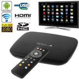 3D Full HD 1080P Dual Core Android 4.2 TV Box Media Player HDMI 1.4 + USB 2.0 + RJ45 Interface Support SD Card / USB Flash Disk (Q-A20)