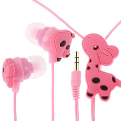 3.5mm Cute Giraffe In Ear Earphone for MP3 / MP4 / iPod / iPhone (Cable Length: 1.2m)