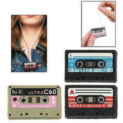Unique Mini Cassette Tape Shaped Headset Cables Organizer/Winder (Random Color Delivery)