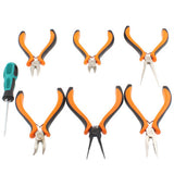 Mini 7 Sets of Household 6pcs Pliers Combination + 1pcs Screwdriver Tool Set
