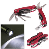 6 in 1 Folding Stainless Steel Multifunction Pliers Tool / Outdoor Use Plier (Red)