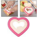 Heart Style Plastic DIY Sandwich Mold Bread Maker Cutter