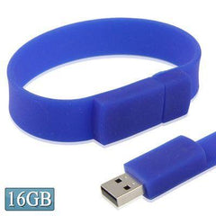 16GB Silicon Bracelets USB 2.0 Flash Disk (Dark Blue)