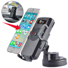 Itian Universal 360 Degree Rotation Suction Cup Car Wireless Charger with Car Holder / Desktop Stand for iPhone 5 & 5S & 5C / iPhone 4 & 4S / Other Mobile Phones / MP4 / PDA Width: 5.4cm - 8.4cm(Black)