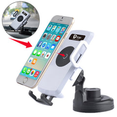 Itian Universal 360 Degree Rotation Suction Cup Car Wireless Charger with Car Holder / Desktop Stand for iPhone 5 & 5S & 5C / iPhone 4 & 4S / Other Mobile Phones / MP4 / PDA Width: 5.4cm - 8.4cm(White)