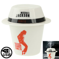 Michael Jackson Pattern Cup Cap Hat Shaped Mini USB Humidifier Air Purifier