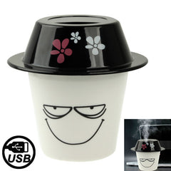 Smile Pattern Cup Cap Hat Shaped Mini USB Humidifier Air Purifier