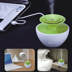 Mini USB-powered Butterfly Flower Style Ultrasonic Humidifier Tank Capacity: 90mL