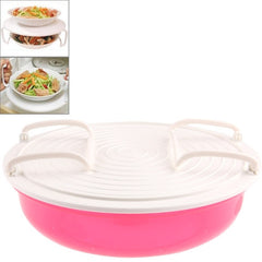 Multifunctional Cooking tray Microwave Cooking Stratified Rack(Magenta)