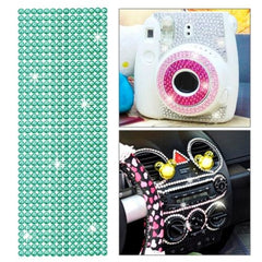 504pcs Glitter Crystal Diamond Decoration / Shining Rhinestone Sticker for DIY Ornament(Green)
