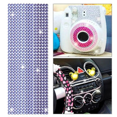 504pcs Glitter Crystal Diamond Decoration / Shining Rhinestone Sticker for DIY Ornament(Purple)