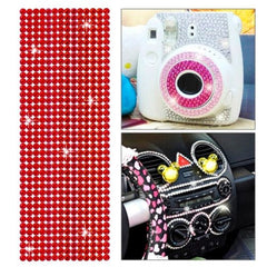 504pcs Glitter Crystal Diamond Decoration / Shining Rhinestone Sticker for DIY Ornament(Red)