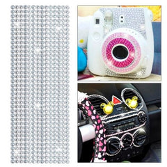 504pcs Glitter Crystal Diamond Decoration / Shining Rhinestone Sticker for DIY Ornament(Transparent)