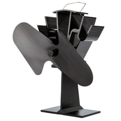 Liank SF-112 Eco-friendly Heat Powered Stove Fan for Wood / Gas / Pellet Stoves(Black)