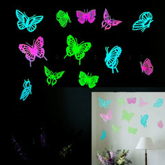 Butterfly Pattern Fluorescent Self-adhesive Wall Stickers for Home Decoration
