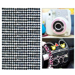 468pcs 5mm Glitter Crystal Diamond Decoration / Shining Rhinestone Sticker for DIY Ornament(Black)