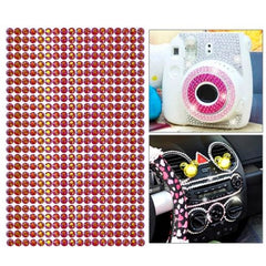 468pcs 5mm Glitter Crystal Diamond Decoration / Shining Rhinestone Sticker for DIY Ornament(Magenta)