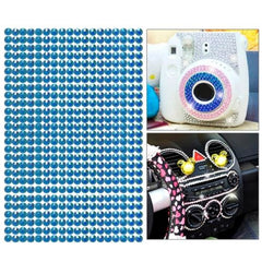 468pcs 5mm Glitter Crystal Diamond Decoration / Shining Rhinestone Sticker for DIY Ornament(Blue)