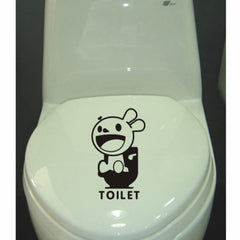 Home Decor Bunny Removable Toilet Stickers Size: 29cm x 17cm