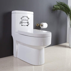 Home Decor Calf Removable Toilet Stickers Size: 15cm x 16cm
