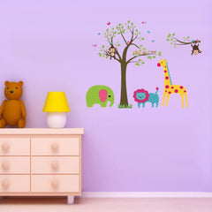 Home Decor Animal Pattern Removable Wall Stickers DIY Free Combination Size: 60cm x 90cm