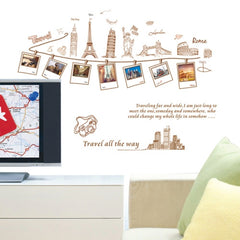 Home Decor European Landscape Removable Wall Stickers DIY Free Combination Size: 60cm x 90cm