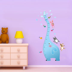 Home Decor Baby Elephant Height Measurement Pattern Removable Wall Stickers DIY Free Combination Size: 60cm x 90cm
