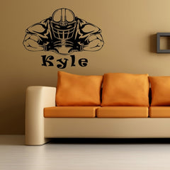 Home Decor Football Player Removable Wall Stickers Size: 60cm x 80cm