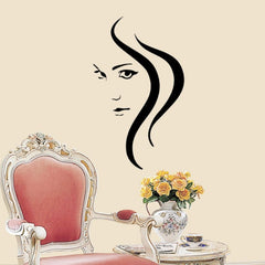 Home Decor Girl Removable Wall Stickers Size: 60cm x 38cm