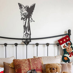 Home Decor Angel Statue Removable Wall Stickers Large Size: 60cm x 135cm