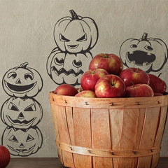 Home Decor Lovely Pumpkin Removable Wall Stickers DIY Free Combination Size: 60cm x 75cm