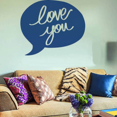 Home Decor Love You Removable Wall Stickers Large Size: 60cm x 75cm