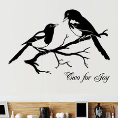 Home Decor Magpies Removable Wall Stickers Large Size: 80cm x 90cm