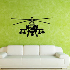 Home Decor Helicopter Removable Wall Stickers Large Size: 40cm x 83cm