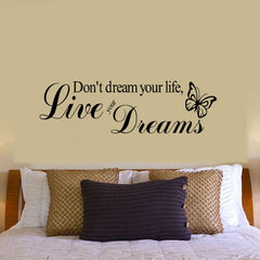 Home Decor Live Your Dreams Removable Wall Stickers DIY Free Combination Size: 30cm x 100cm